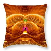 Cosmic Spiral Ascension 33 Throw Pillow