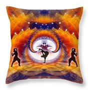 Cosmic Spiral Ascension 54 Throw Pillow