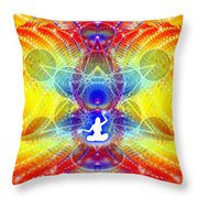 Cosmic Spiral Ascension 56 Throw Pillow