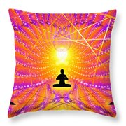 Cosmic Spiral Ascension 57 Throw Pillow