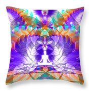 Cosmic Spiral Ascension 61 Throw Pillow