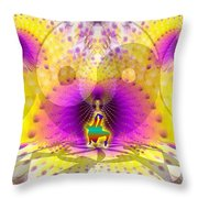 Cosmic Spiral Ascension 62 Throw Pillow