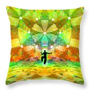 Cosmic Spiral Ascension 66 Throw Pillow