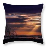 Cosmic Spotlight On Shannon Airport Throw Pillow