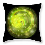 Cosmic Swirl - Use Red-cyan Filtered 3d Glasses Throw Pillow