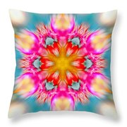 Cosmic Torch Throw Pillow