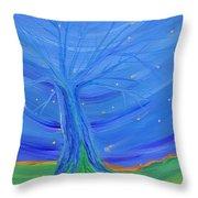 Cosmic Tree Throw Pillow