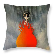Cosmic Womb Throw Pillow
