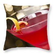 Cosmopolitan Cocktail Throw Pillow