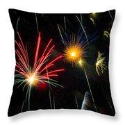 Cosmos Fireworks Throw Pillow