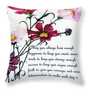 Cosmos Poem Throw Pillow