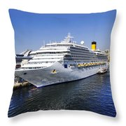 Costa Cruise Ship Throw Pillow