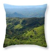 Costa Rica Greens Throw Pillow