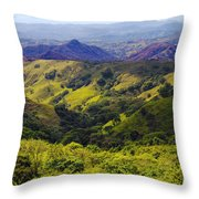 Costa Rica Mountains Throw Pillow
