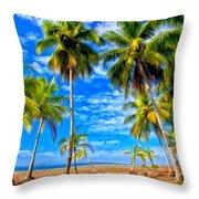 Costa Rican Paradise Throw Pillow