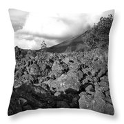 Costa Rican Volcanic Rock  Throw Pillow