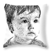 Costin Boy Throw Pillow