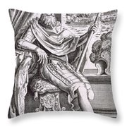 Costume And Armour Of The Captain Throw Pillow