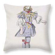 Costume Design For Geometry In A 17th Throw Pillow