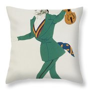 Costume Design For Paganini In The Enchanted Night Throw Pillow
