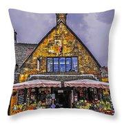 Cotswold Street Market Throw Pillow