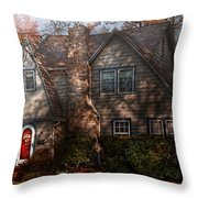 Cottage - Cranford Nj - Autumn Cottage  Throw Pillow