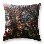 Cottage - Cranford Nj - Autumn Cottage  Throw Pillow