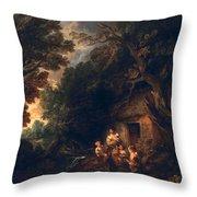Cottage Door, C.1780 Throw Pillow