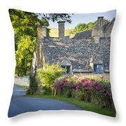 Cottage In The Cotswolds Throw Pillow