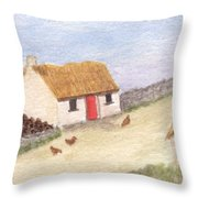 Cottage In The West Throw Pillow
