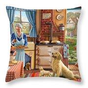 Cottage Interior Throw Pillow