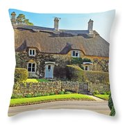Cottage Of The Cotswolds Throw Pillow