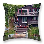 Cottage On The Water Throw Pillow