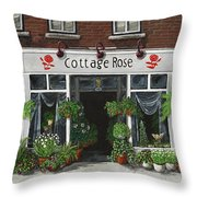 Cottage Rose Throw Pillow