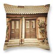 Cottage Townhouses In Lund Throw Pillow
