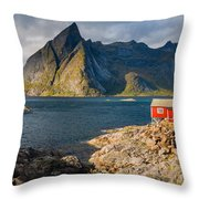 Cottage With A View Throw Pillow