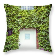 Cottage With Ivy Throw Pillow