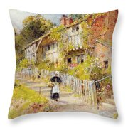 Cottages   A Row Of Cottages Throw Pillow