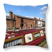 Cottages At Fradley Junction Throw Pillow