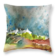 Cottages In Brittany Throw Pillow
