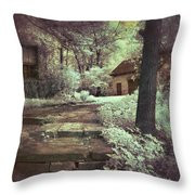 Cottages In The Woods Throw Pillow