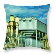 Cotten Gin Digital Paint Throw Pillow