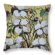 Cotton #2 - Cotton Bolls Throw Pillow