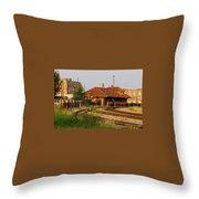 Cotton Belt Depot Throw Pillow