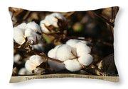 Cotton Bolls Ready For Harvest Throw Pillow