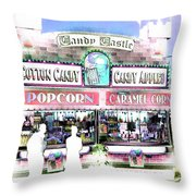 Cotton Candy Castle Throw Pillow
