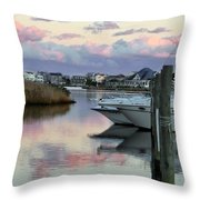 Cotton Candy Clouds Two Throw Pillow