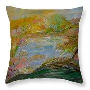 Cotton Candy Dreams Throw Pillow by Sara Credito