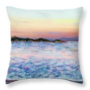 Cotton Candy Waters Throw Pillow
