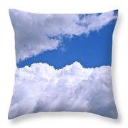 Cotton Clouds Throw Pillow